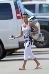 Jada Pinkett Smith - In white tights heading to a gym 2/28/17