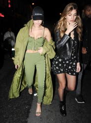 Hailey Baldwin & Cami Morrone - Leaving Pink Pariadie Strip Club in Paris 3/1/17