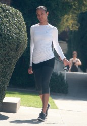 Zoe Saldana - Out and about in Studio City 3/2/17