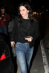 Courteney Cox - leaving Craig's in West Hollywood 3/1/ 17