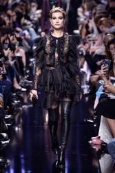Hailey Baldwin - Elie Saab Fall 2017 Fashion Show in Paris 3/4/17