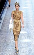 Bianca Balti  Dolce Gabbana MFW 2