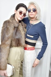 Kendall Jenner & Cara Delevinge - Chanel Fall 2017 Fashion Show in Paris 3/7/17