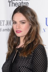 Lily James - The National Theater Gala in London 3/7/17