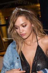 Rita Ora - Arriving at the V Magazine Party in Paris 3/7/17