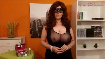 [MaskedEva/clips4sale.com] Masked Eva (Lubricants Demonstation / 1/25/17) [2017 г., big natural tits, handjob, mask, milf, pov, cumshot, 1080p]