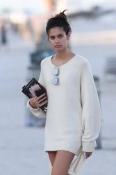 Sara Sampaio - At the beach in Miami 3/12/17
