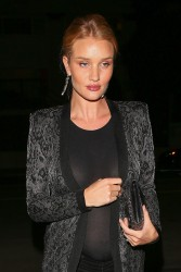 Rosie Huntington-Whiteley - Out for dinner in LA 3/11/17