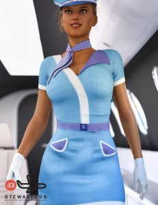 i13 Stewardess Outfit for Genesis 3 Female