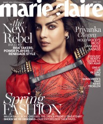 Priyanka Chopra -               Marie Claire Magazine April 2017 Tesh Photos.