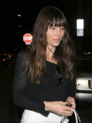 Jessica Biel - Leaving Au Fudge in West Hollywood 3/16/17