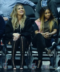 Khloe Kardashian - At the LA Clippers vs Cavaliers Game 3/18/17