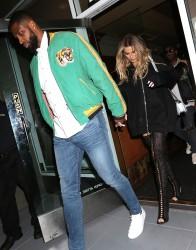 Khloe Kardashian - Out for dinner in Beverly Hills 3/18/17