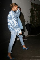 Hailey Baldwin - Leaving The Forever 21 x Justine Skye Festival Collection in Hollywood 3/21/17