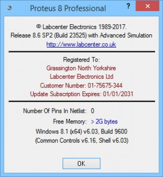 Proteus 8 Professional 8.6 SP2 Build 23525 (EN)