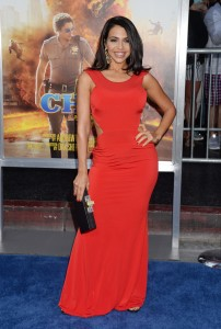 Vida Guerra - Sexy Red Dress At 'CHiPS' Premiere in LA (3/20/17)