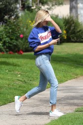 Hailey Baldwin - At a friends home in LA 3/22/17