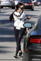 Vanessa Hudgens - Leaving Training Mate in Studio City 3/24/17
