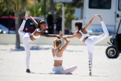 Sara Sampaio, Romee Strijd & Jasmine Tookes - On set of a Victoria's Secret Sport Photoshoot in Miami 3/22/17