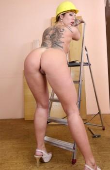 Tattooed German Secretary Mia Blow Cover