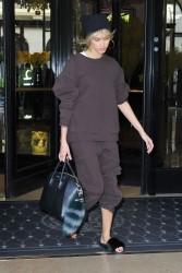 Hailey Baldwin - Leaving her hotel in Paris 3/27/17