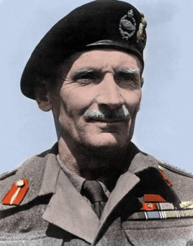 Field Marshal Bernard Montgomery - Colored Picture