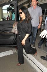 Salma Hayek - At LAX Airport 3/28/17